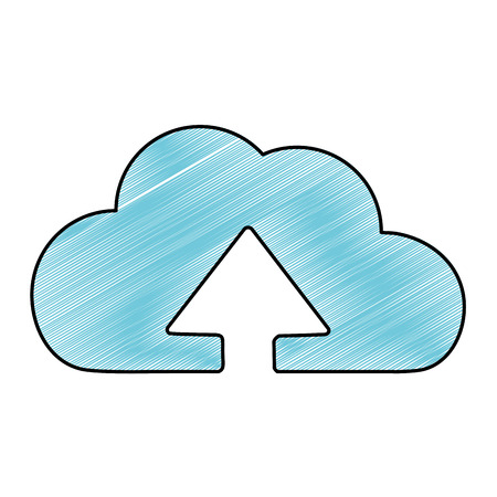 Cloud computing of storage technology and virtual theme. Isolated design, vector illustration.