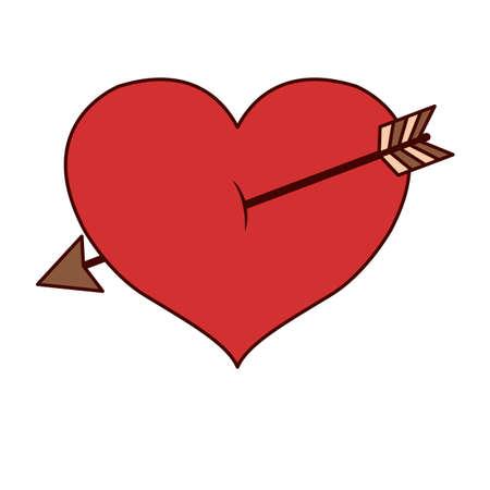 Isolated heart design Illustration