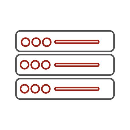 Web hosting design Vectores