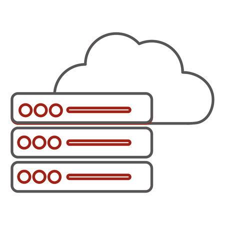 Web hosting design Vettoriali