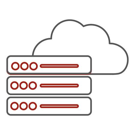 Web hosting design Illusztráció