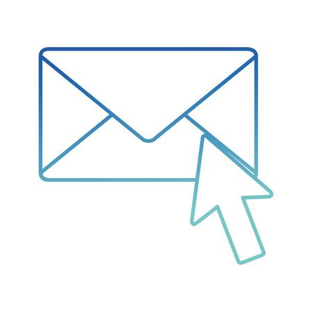 Isolated envelope design Illusztráció