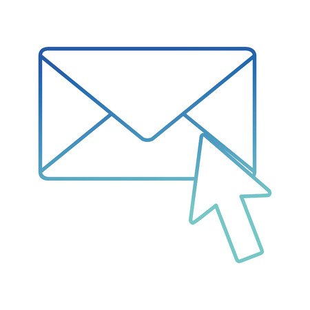 Isolated envelope design Illustration