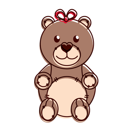 Teddy bear design Illustration