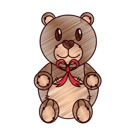 Teddy bear design Illustration