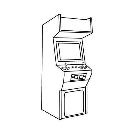 Arcade machine design  イラスト・ベクター素材
