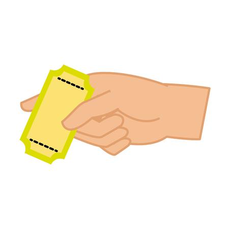Isolated ticket design Illustration
