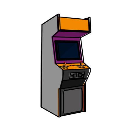 Arcade for  videoo game. Ilustração