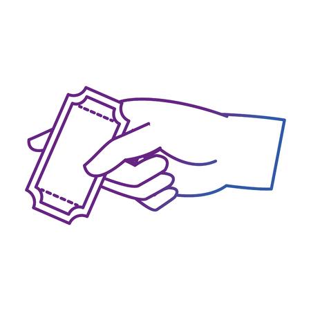 Ticket von Label Coupon und Event Thema isoliert Design Vektor-Illustration Vektorgrafik