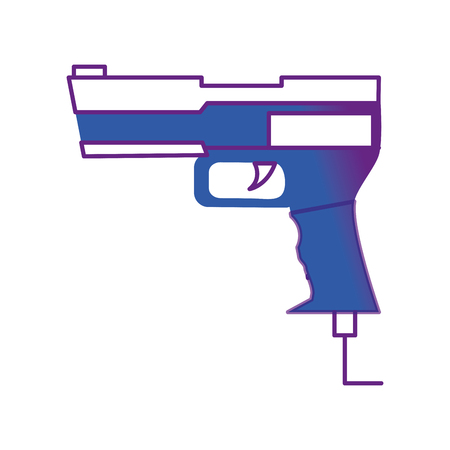 Gun of toy game and play theme Isolated design Vector illustration