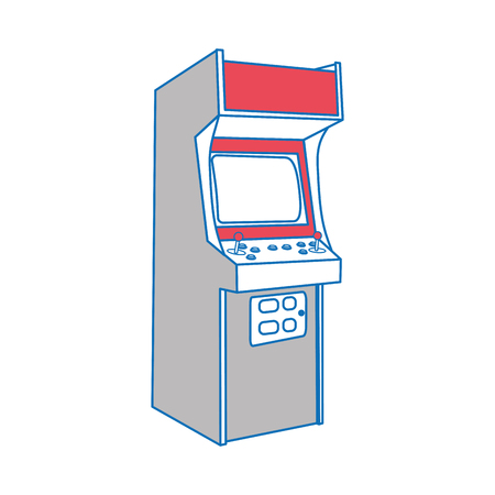 Illustration of an arcade machine isolated on white background.