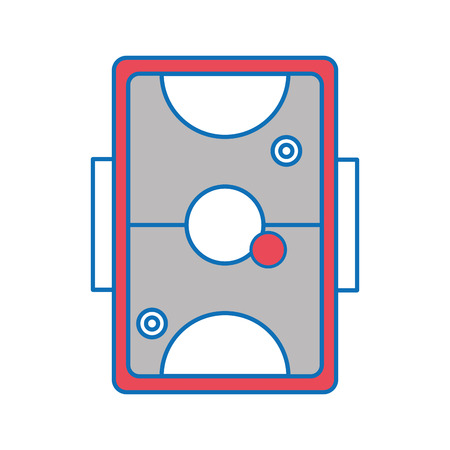 Air hockey of toy game and play theme Isolated design Vector illustration