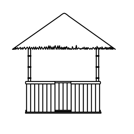 Isolated hut design Illustration