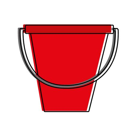 Sand bucket design on white background, vector illustration.