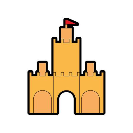 Castle icon isolated on white  background.