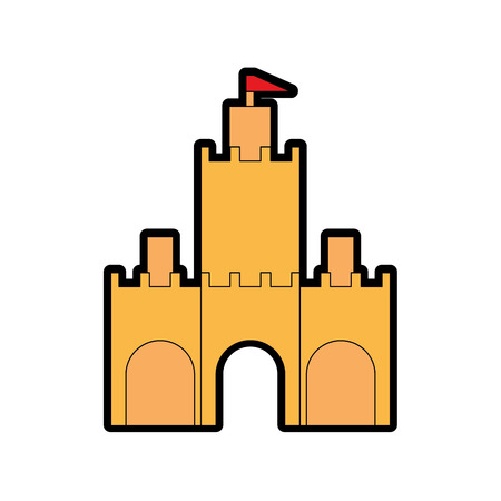 Castle icon isolated on white  background.