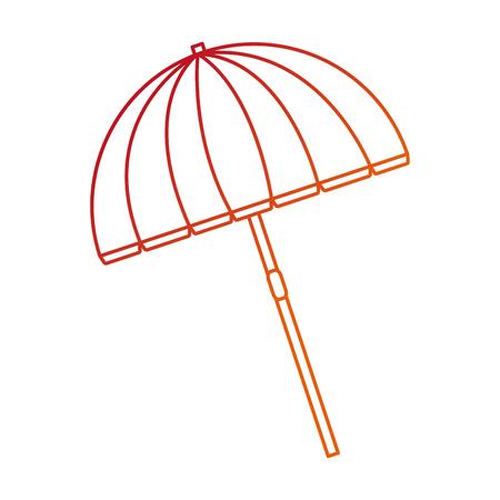 Isolated umbrella design Illustration