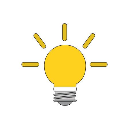 Light bulb of energy power and technology theme Isolated design Vector illustration Illustration