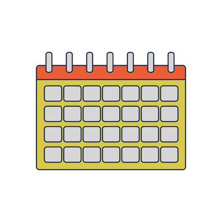 Calendar of planner time and event theme Isolated design Vector illustration