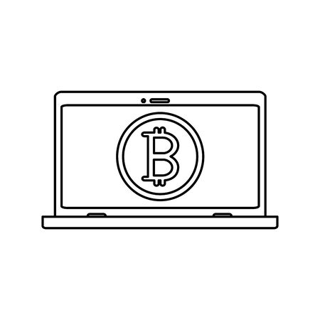 Bitcoin of bit financial and money theme Isolated design Vector illustration