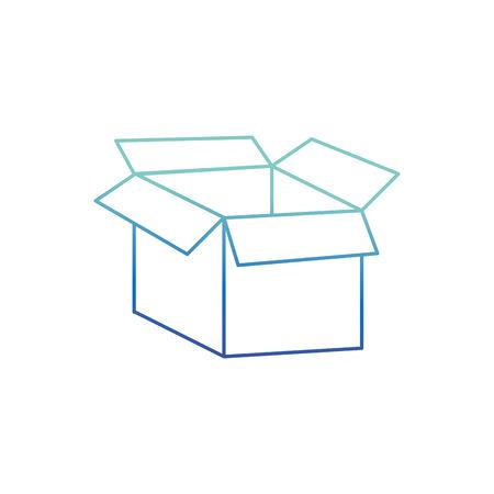 Isolated box design Illusztráció