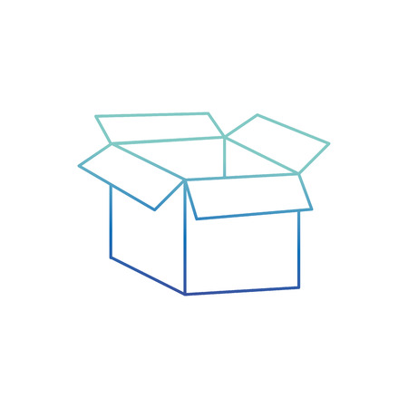 Isolated box design Illustration