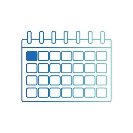 Isolated calendar design