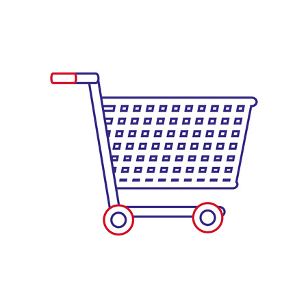 Cart of shopping commerce and market theme Isolated design Vector illustration Vectores