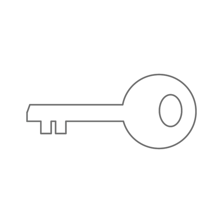 Key of security system and warning theme Isolated design Vector illustration