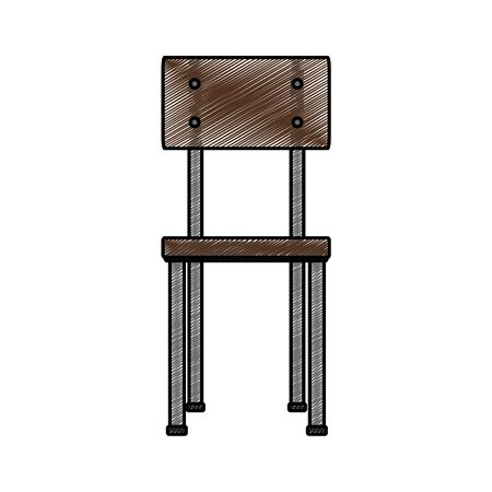 Isolated chair design illustration.