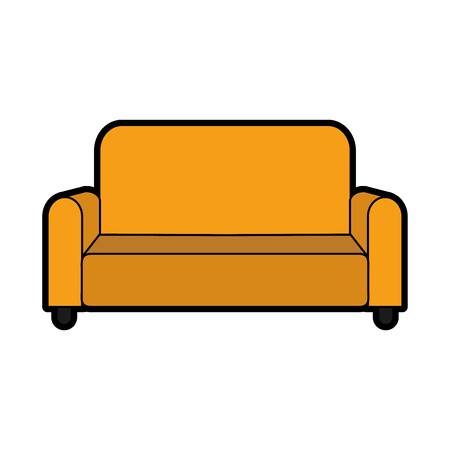 Couch of chair seat furniture and home theme Isolated design Vector illustration Vettoriali