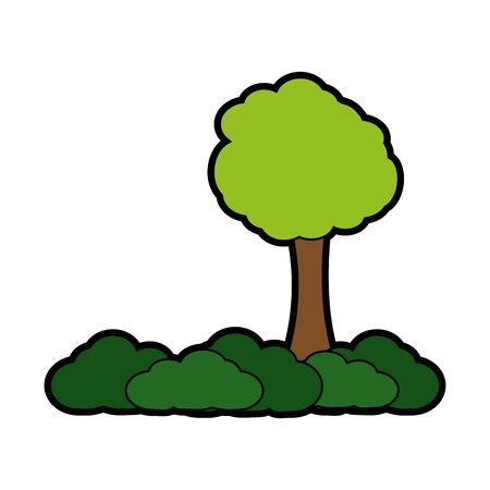 Tree of forest park and nature theme Isolated design Vector illustration