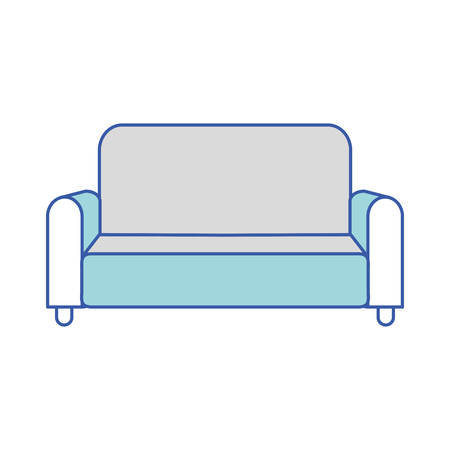 Isolated couch design 일러스트
