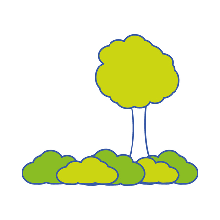 Isolated tree design Illustration