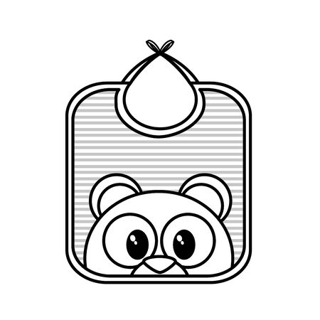 Bib of baby object and childhood theme Isolated design Vector illustration