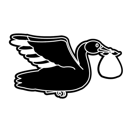 Baby stork design Vector illustration.