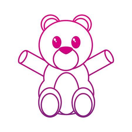 Bear cartoon design Vector illustration. Illustration