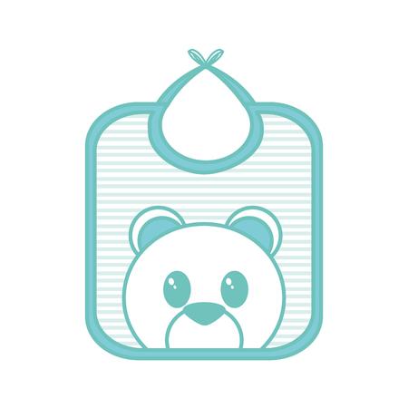 Baby bib design Illustration