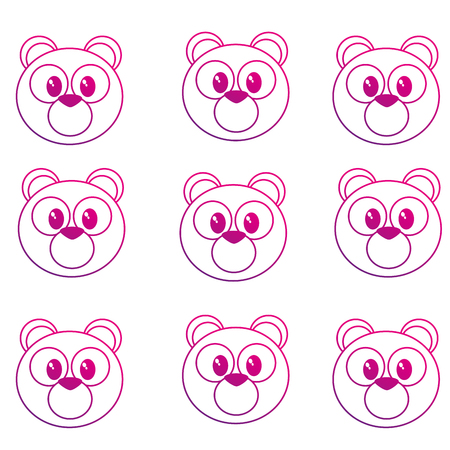 Bear cartoon background of cute animal and adorable creature theme Isolated design Vector illustration