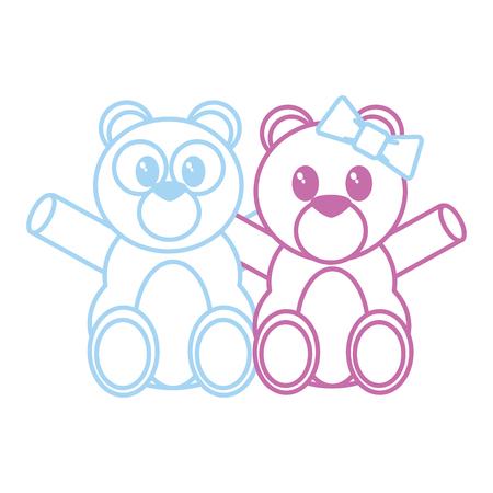 Bear cartoon of cute animal and adorable creature theme Isolated design Vector illustration