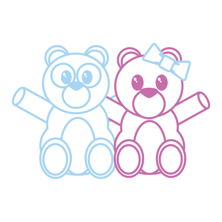 Bear cartoon of cute animal and adorable creature theme Isolated design Vector illustration