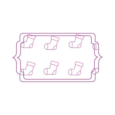 Baby sock frame Vector illustration.