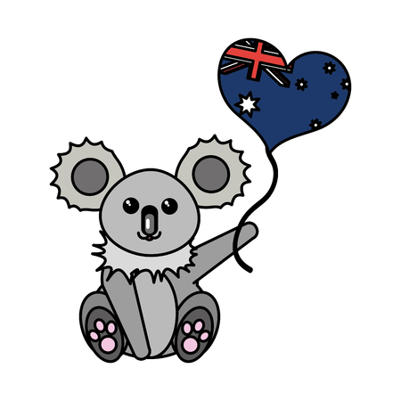 Australian koala design illustration.