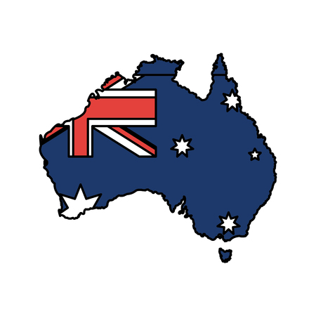 Australian map design illustration.