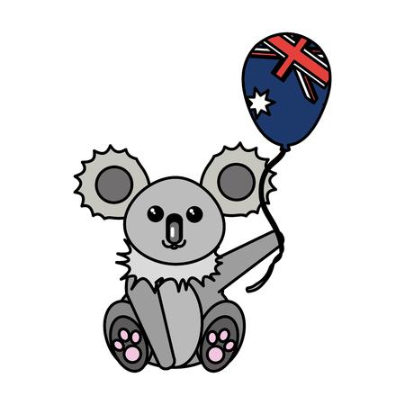 Australian koala design illustration.