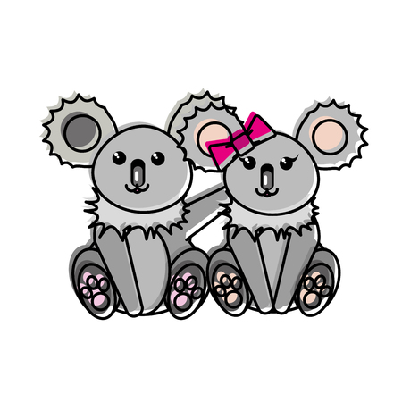 Koala cartoon design illustration. Illustration