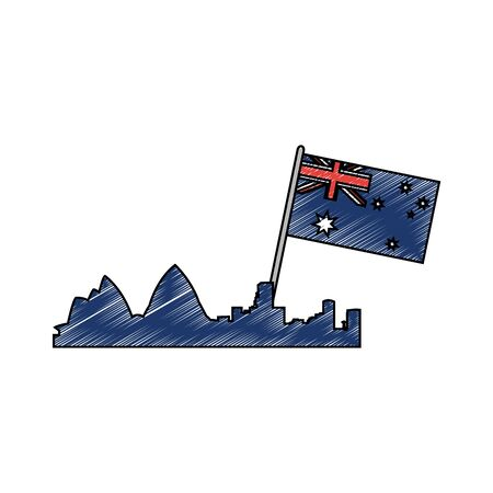 Australian flag design illustration.