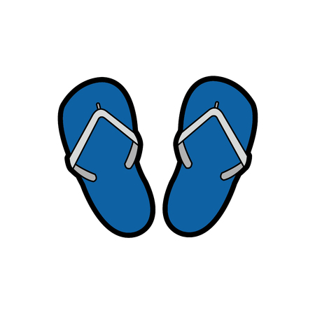 Isolated sandals design illustration.