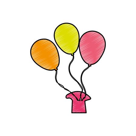 Balloon of party celebration and entertainment theme Isolated design Vector illustration Ilustracja