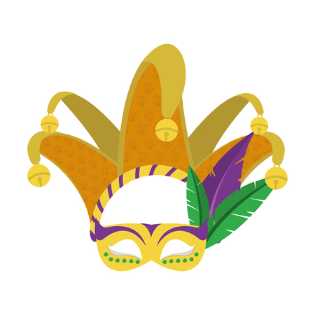 Mask of masquerade carnival costume and party theme Isolated design Vector illustration 일러스트